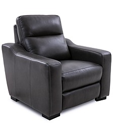 Gabrine Leather Power Recliner, Created for Macy's