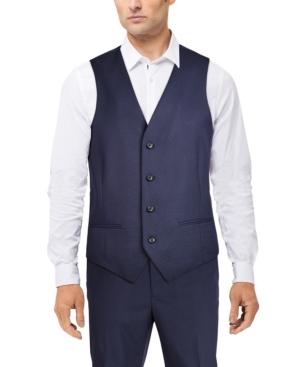 Men's Classic-Fit Stretch Solid Suit Vest