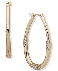 Gold-Tone Medium Hoop Earrings, 1.32""