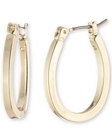 "Gold-Tone Small Hoop Earrings, .8"""