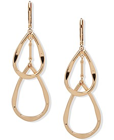 Gold-Tone Double Teardrop Earrings