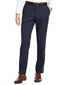 Hugo Boss Men's Classic-Fit Blue Plaid Suit Pants