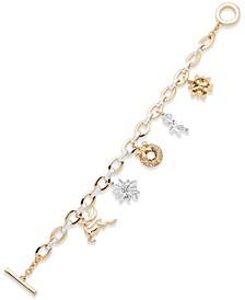 Two-Tone Holiday Charm Bracelet