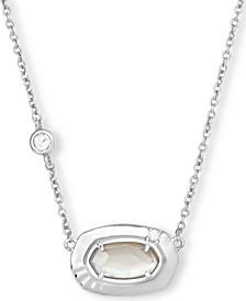"""Pavé & Stone Pendant Necklace, 15"""" + 2"""" extender"""