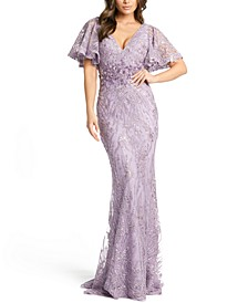 Flutter-Sleeve Gown