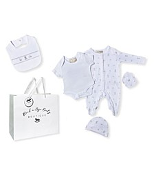 Baby Boys and Girls Toy Box Footie 5 Piece Layette Gift Set