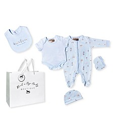 Baby Boys Toy Box Footie 5 Piece Layette Gift Set