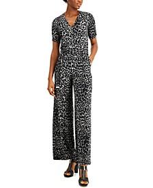 Cheetah-Print Jumpsuit, Regular & Petite