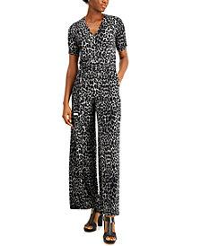 Michael Michael Kors Cheetah-Print Jumpsuit, Regular & Petite