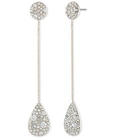 Scattered Crystal Linear Drop Earrings
