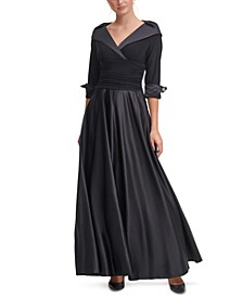 Portrait-Collar Gown