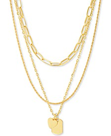 """Gold-Tone Mixed Chain 20"""" Pendant Necklace"""