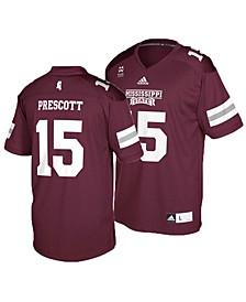 adidas Mississippi State Bulldogs Dak Prescott Men's Replica Football Jersey