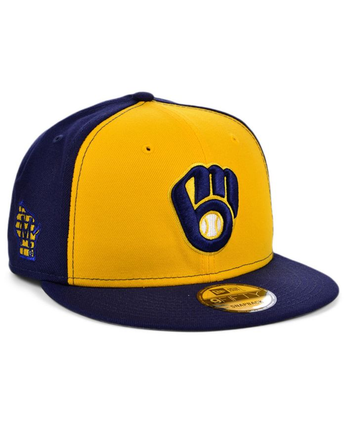 New Era Milwaukee Brewers 2 Tone Link 9FIFTY Snapback Cap & Reviews - Sports Fan Shop By Lids - Men - Macy's