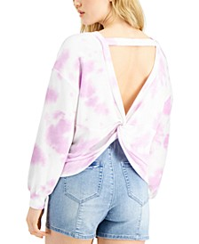 Tie-Dyed Twist-Back Sweatshirt, Created for Macy's