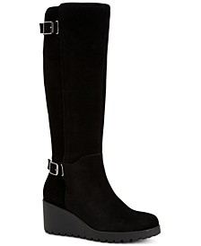 Sannaa Wedge Boots, Created for Macy's