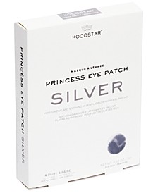 Princess Eye Patch, Silver-Tone, 4 Pairs