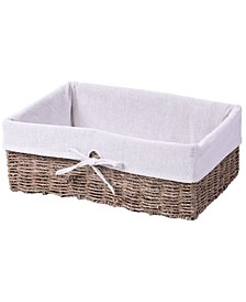 Large Seagrass Shelf Storage Basket with Lining