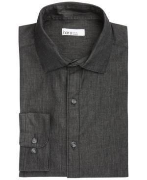 Men's Organic Cotton Denim-Style Slim Fit Dress Shirt