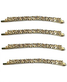 INC Silver-Tone 4-Pc. Set Crystal Bobby Pin Set, Created for Macy's