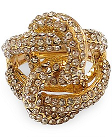 INC Gold-Tone Crystal Flower Knot Ring, Created for Macy's