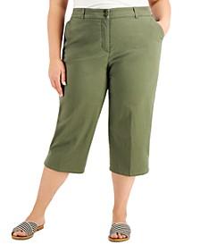 Plus Size Comfort-Waist Capri Pants, Created for Macy's
