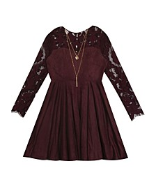 Big Girl Mole Skin Skater Dress