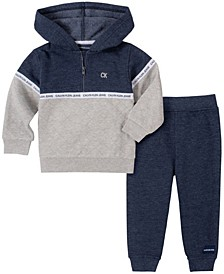 Baby Boys Half-zip Fleece Pant Set
