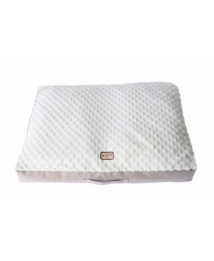 If you are looking for a larger dog cushion, Armarkat offers this extra-large bed which features neutral colors and polyfill construction. Its cover is machine washable. The smart design of the water resistant interior lining makes it easy to clean.