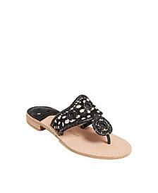 Women's Haircalf Flat Sandal