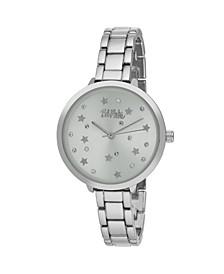 Women's Silver-Tone Alloy Bracelet Link Watch, 36mm