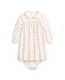 Ralph Lauren Baby Girls Floral Velour Dress & Bloomer