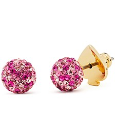 Gold-Tone Brilliant Statement Stud Earrings