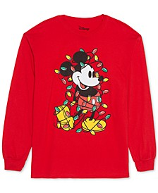 Trendy Plus Size Mickey Mouse Christmas Top