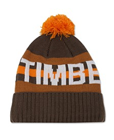 Men's Striped Logo Beanie