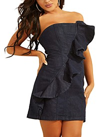 Ruffled Strapless Mini Dress