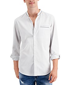 INC Men's Classic/Regular-Fit Band-Collar Shirt, Created for Macy's