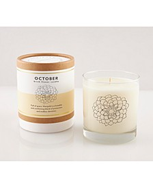 October Soy Candle