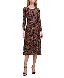 Ruched-Waist Dress