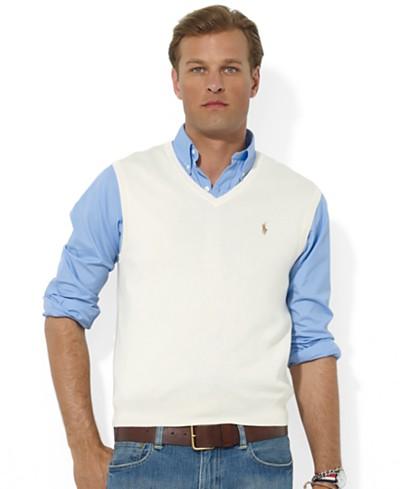 Polo Ralph Lauren Men's Sweater Vest, Core Solid Sweater Vest