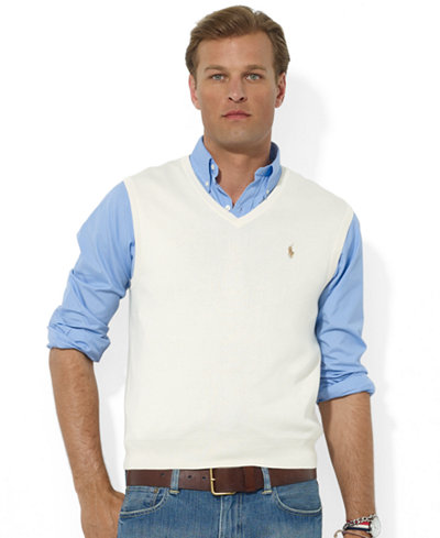 Polo Ralph Lauren Men S Sweater Vest Core Solid Sweater