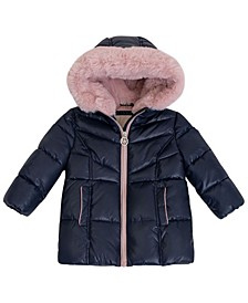 Baby Girls Stadium Length Heavy Weight Puffer Jacket