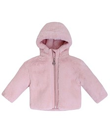 Baby Girls Faux Fur Hooded Jacket