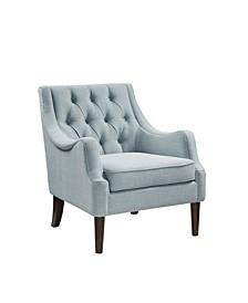Madison Park Qwen Button Tufted Accent Chair