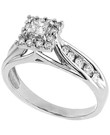 Diamond (5/8 ct. t.w.) Engagement Ring in 14K White Gold