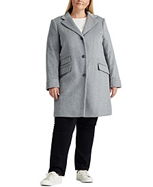 Plus-Size 3-Button Walker Coat, Created For Macy's