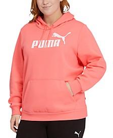 Plus Size Fleece Logo Hooded Sweatshirt