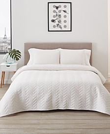 Herringbone Stitch Quilt Set, Full/Queen