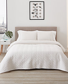 Lacoste Home Herringbone Stitch Quilt Set, Twin