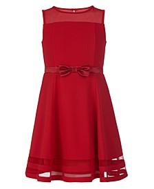 Calvin Klein Big Girls Illusion Mesh Holiday Dress